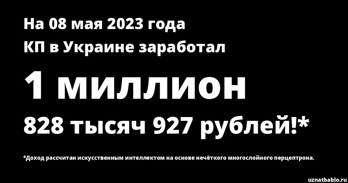 Сколько заработал Пресс-центр газеты КП в Украине на Youtube на 16 июня 2019 года