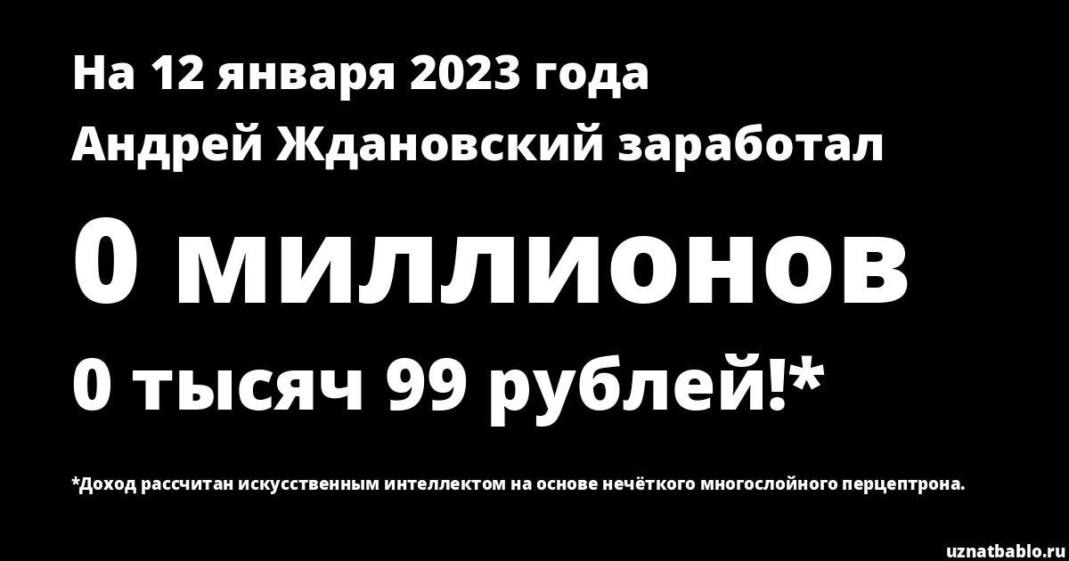 Сколько заработал Андрей Ждановский на Youtube на 18 октября 2019 года