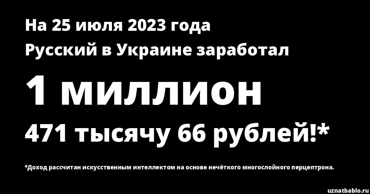 Сколько заработал Русский в Украине на Youtube на 25 августа 2019 года