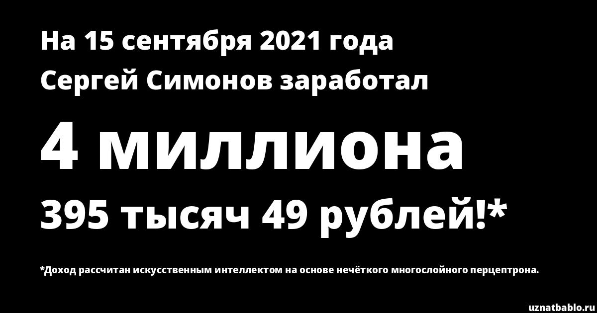Сколько заработал Сергей Симонов на Youtube на 21 августа 2019 года