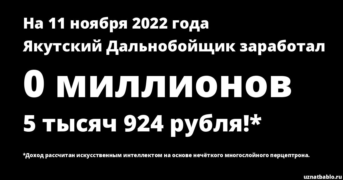 Сколько заработал Якутский Дальнобойщик на Youtube на 29 января 2020 года