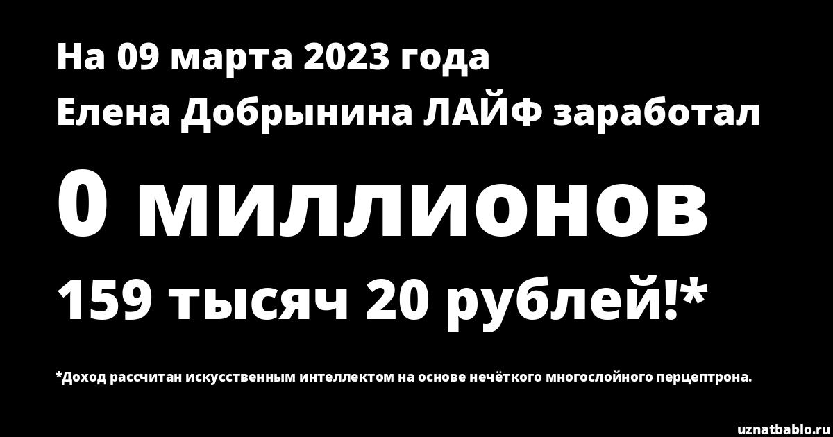 Сколько заработал Елена Добрынина ВЯЗАНИЕ на Youtube на 24 января 2019 года