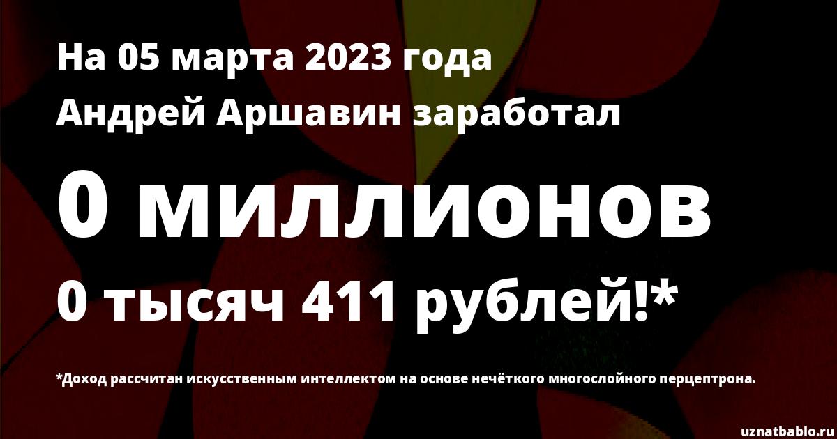 Сколько заработал Андрей Аршавин на Youtube на 7 апреля 2020 года