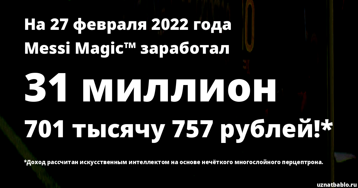 Сколько заработал Messi Magic™ на Youtube на 25 августа 2019 года