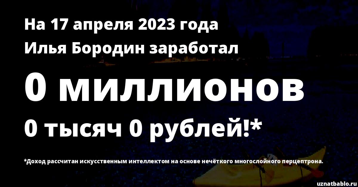 Сколько заработал Илья Бородин на Youtube на 29 февраля 2020 года