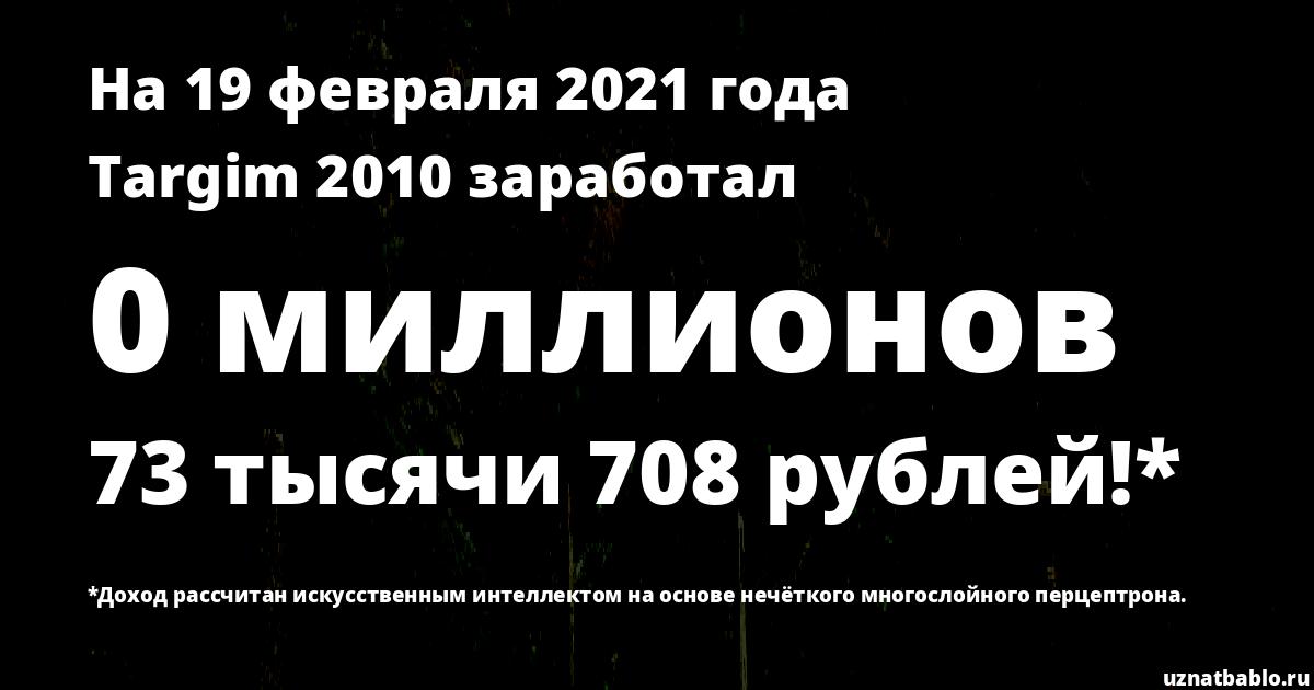 Сколько заработал SuperTARGIM на Youtube на 18 февраля 2020 года