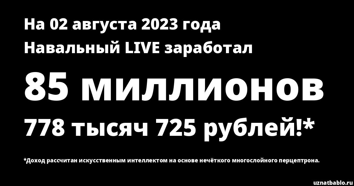 Сколько заработал Навальный LIVE на Youtube на 19 мая 2019 года
