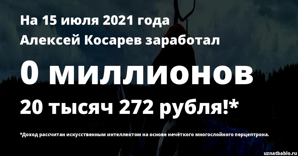 Сколько заработал Алексей Косарев на Youtube на 18 октября 2019 года