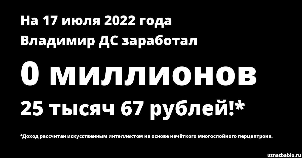 Сколько заработал Владимир ДС на Youtube на 29 февраля 2020 года