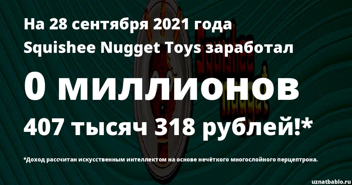 Сколько заработал Squishee Nugget Toys на Youtube на 19 октября 2019 года