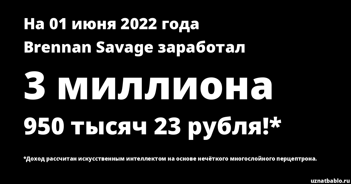 Сколько заработал Brennan Savage на Youtube на 19 февраля 2019 года